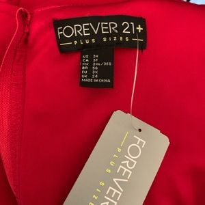 Forever 21 Dresses - Forever 21 Red Maxi Dress NWT Size 3X